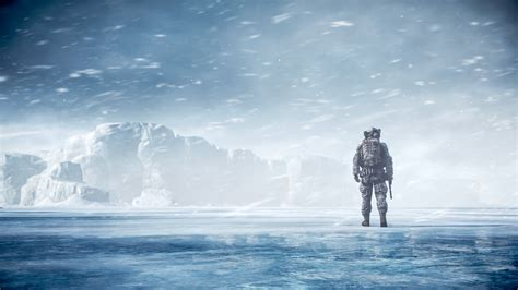 Wallpaper Battlefield 4, Soldier, Snow map, Multiplayer