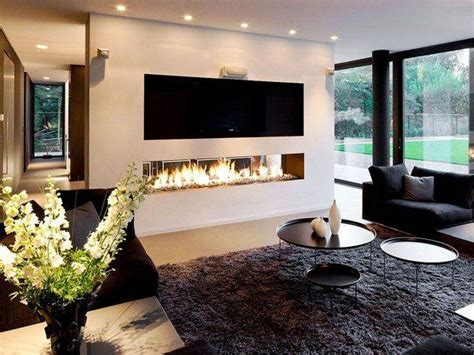 20 exles of modern living room with fireplace and tv decorating ideas orchidlagoon com modern linear fireplaces contemporary living room design