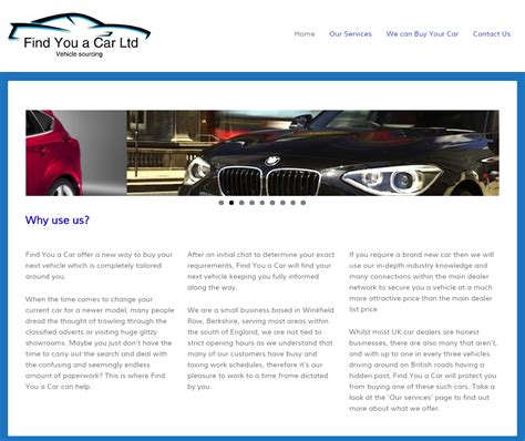 find you a car ltd thames valley website development