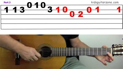 doodle how to play guitar lesson 5c yankee doodle on 4 strings