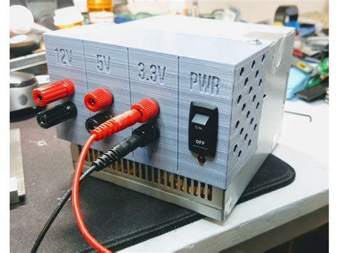 convert pc power supply to bench convert an old atx power supply into a bench power supply with or without 3d printed