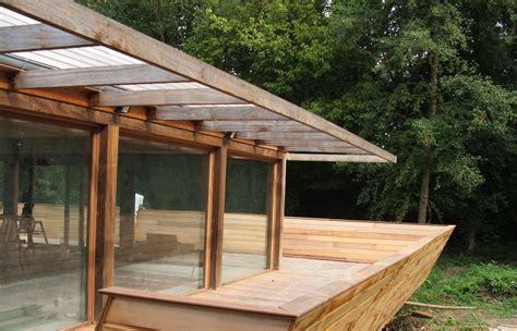 Maison Bois Préfabriquée by Cuisine Country Barge Architecture Essonne Maison