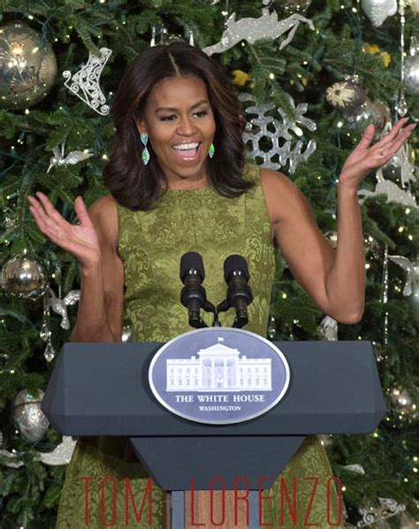 michelle obama white house christmas designers debuts white house decorations in michael kors tom lorenzo