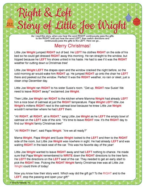 elf gift passing game free top 28 story for gift exchange the left right w printable story it