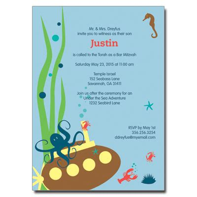 Free Under The Sea Invitation Templates Party Invitations Ideas The Sea Birthday Invitation Template