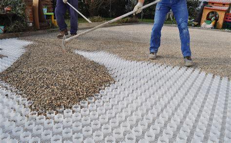 vespaio in ghiaia il grigliato carrabile per realizzare parcheggi in ghiaia