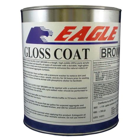 Acrylic Sealer home depot coupons for eagle 1 gal gloss coat clear