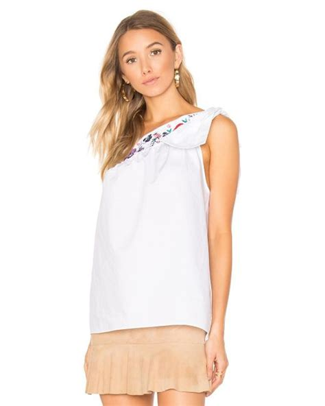 Freja Top In White freya top in white lyst