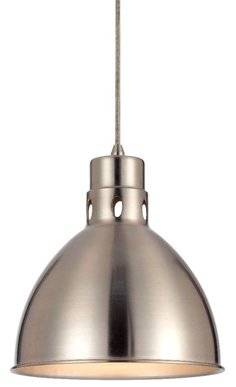 brushed steel pendant light nickel vintage pendant light 10 quot wide up1109 6 bs