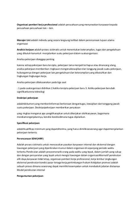 Organisasi Dan Msdm konsep dasar dan ruang lingkup msdm