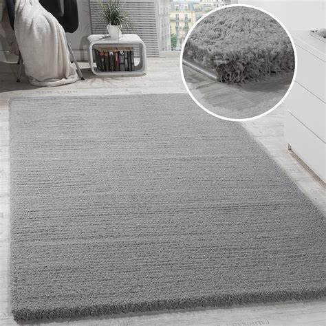 teppich shaggy shaggy teppich micro polyester grau hochflor teppiche