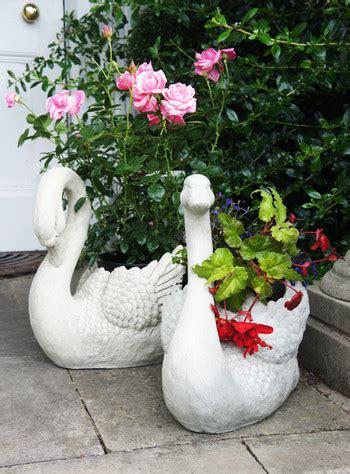 Ornate Garden Planters by Hearton Park Lake Swan Decorative Garden Planters