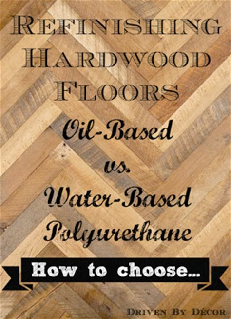 Refinishing Hardwood Floors: Water Based vs. Oil Based