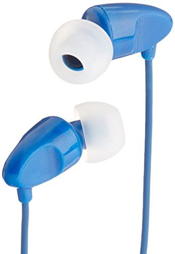 Amazonbasics In Ear Headphones With Microphone amazonbasics in ear headphones with universal mic blue import it all