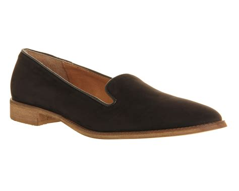 Maharani Loafer Flats Dir Co office verona loafer black nubuck flats