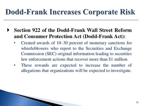 section 922 dodd frank 401 government contracts relationships risks