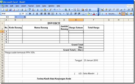 desain database inventory barang contoh database minimarket contoh l