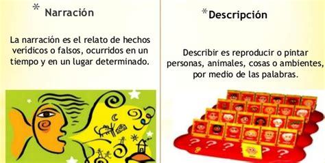 imagenes figurativas descripcion diferencia entre la descripci 243 n y la narraci 243 n la