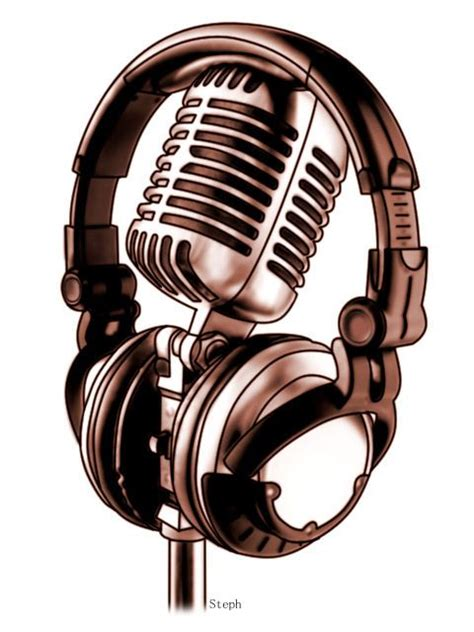 microphone tattoo design microphone designs headphones and mic by zzyxz