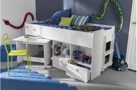 lit combiné bureau enfant lit combin 233 pour enfant 90x200cm avec bureau et rangement