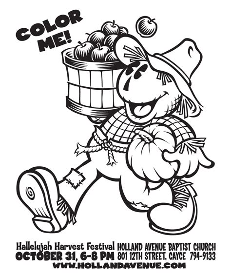fall festival coloring pages