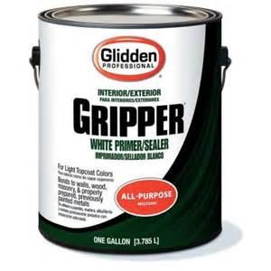 home depot primer glidden professional 1 gal gripper white primer sealer