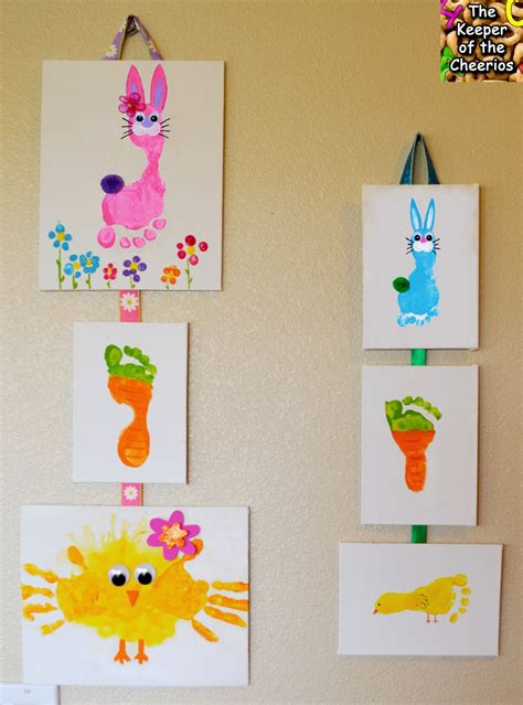 footprint crafts for easter print and footprint crafts