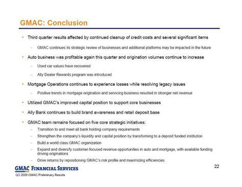 Gmac Credit Application Form Ally Financial Inc Form 8 K Ex 99 2 November 4 2009