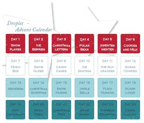 nearly normal design handcrafted calendar journals open droplet advent calendar by hoshiai on deviantart