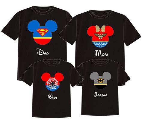 design a shirt disney family set disney superheroes disney vacation t shirt by