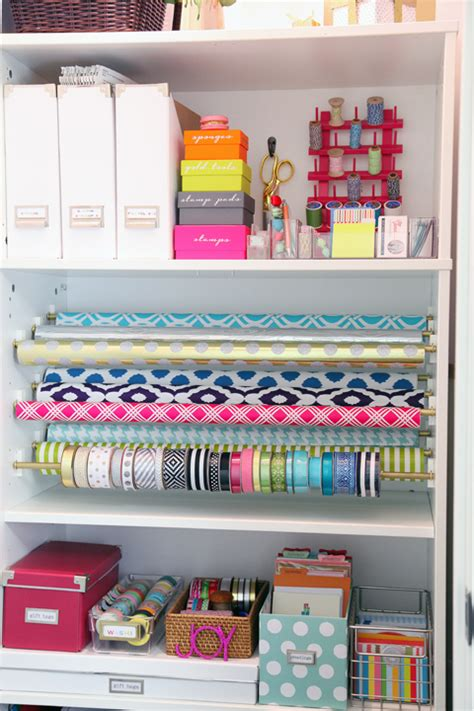 gift wrapping organization ideas iheart organizing diy gift wrap organization station