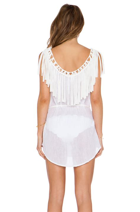 eberjey shipwrecked rania tunic in white lyst