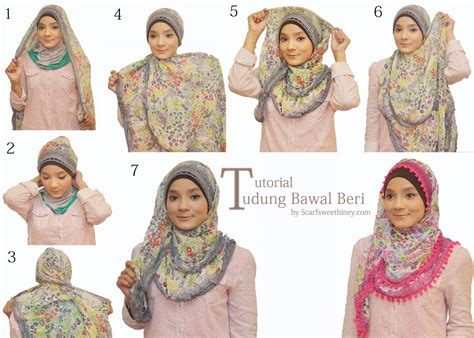 tutorial jilbab segi empat simple hijab news ala nubi