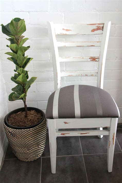 diy shabby chic rustic white dining chair basil and chaise