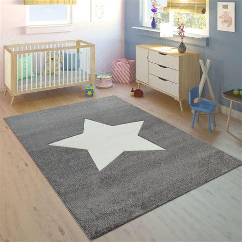 alfombra habitacion infantil nino nina moderna gran estrella en gris  blanco alfombras infantiles