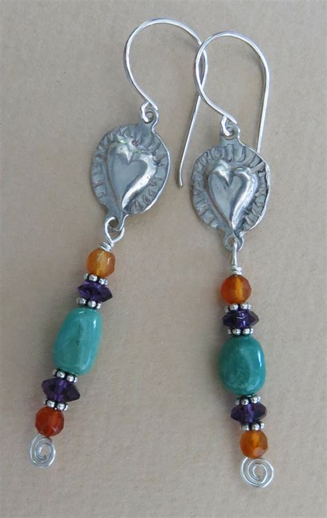 Handmade Jewllery - handmade turquoise and earrings handmade jewelry