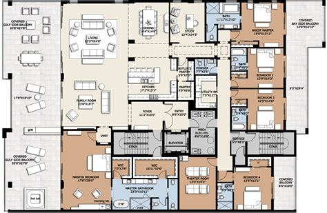 Luxury Penthouse Floor Plan | floor plans luxury homes two sophisticated luxury