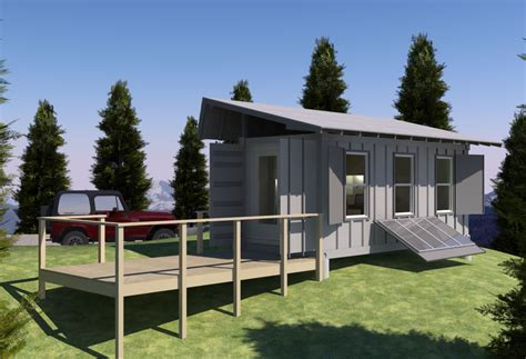 secure house plans shipping container based remote cabin design concept