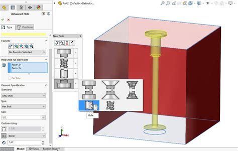 solidworks tutorial hole wizard solidworks 2017 advanced hole wizard for complex multi