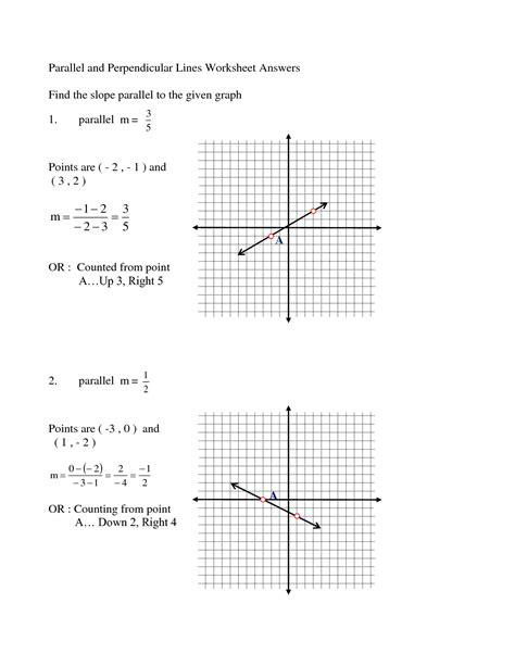 Parallel And Perpendicular Lines Worksheet Pdf by 13 Best Images Of Parallel Lines Perpendicular Lines