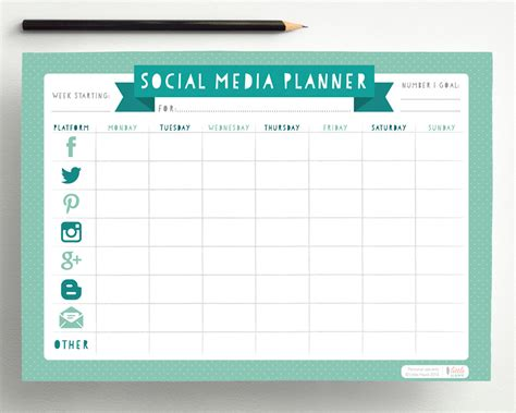social media planner social media planner pdf by hellolittlehawk on etsy