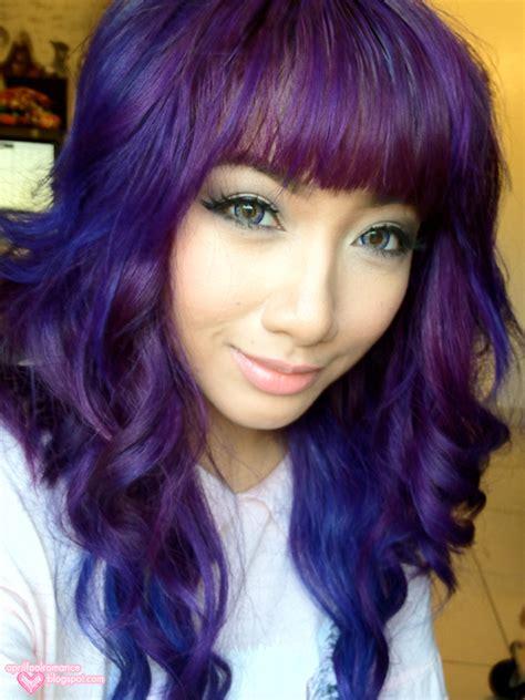 dark purple april fool romance purple hair