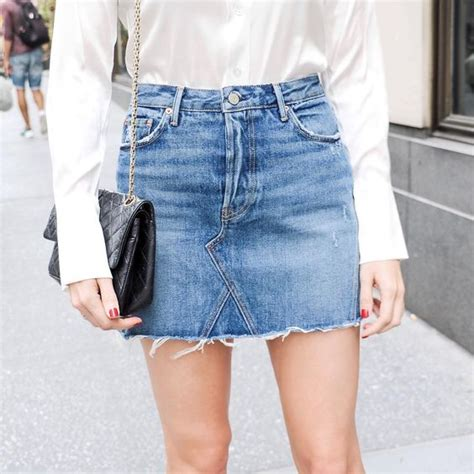 trash to couture diy denim skirt from