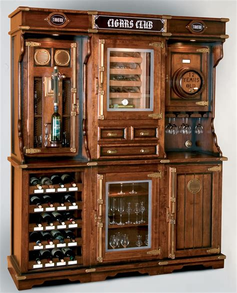 Unique Home Bar Furniture Unique Cigar And Wine Cabinet With A Humidor