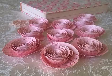 decorazioni tavola matrimonio fiori di carta 10 rosa decorazione tavola