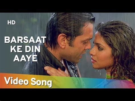 priyanka chopra in barsaat ke din aaye ayga maza barsat film barsat vidoemo emotional video unity