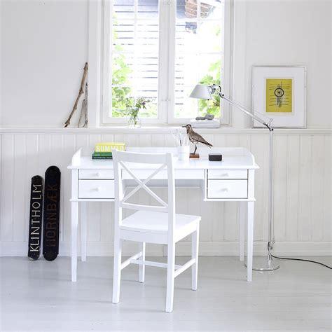 white scandanavian desk or dressing table by nubie modern