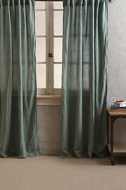 green linen drapes linen balsas curtain i anthropologie