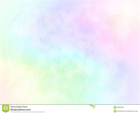Soft Rainbow Color Background Design With Blades Of Grass