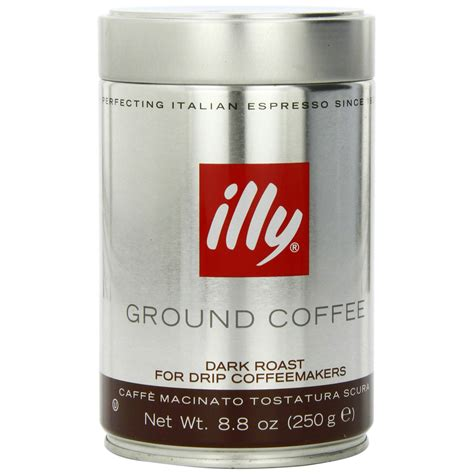 Dark Roast Illy Coffee   Drip Grind (Brown Band)   8.8oz Canister